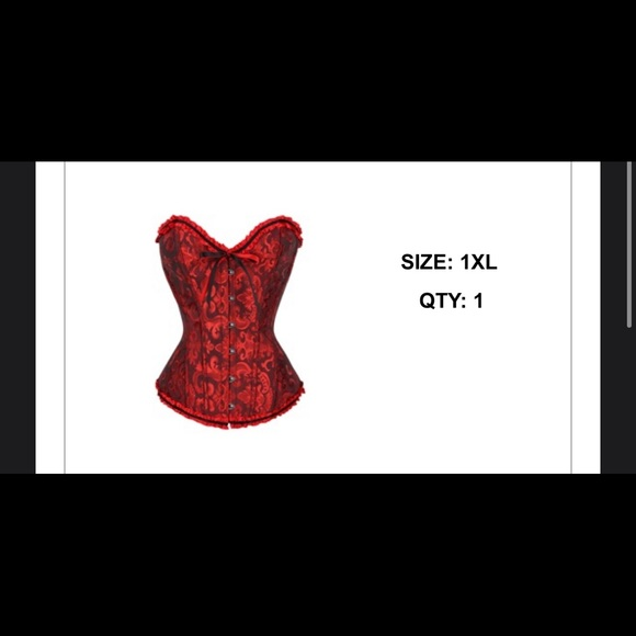 red and black corset from shein